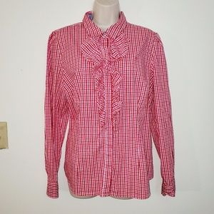 Tommy Hilfiger xl ruffled front blouse